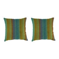Jordan Manufacturing Sunbrella Astoria Lagoon Pillow Set of 2