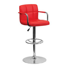 flash furniture weston quilted adjustable height bar stool red bar stools and counter