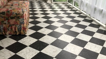 checkerboard vinyl tile