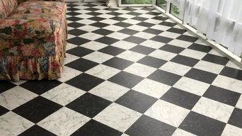 checkerboard vinyl tile