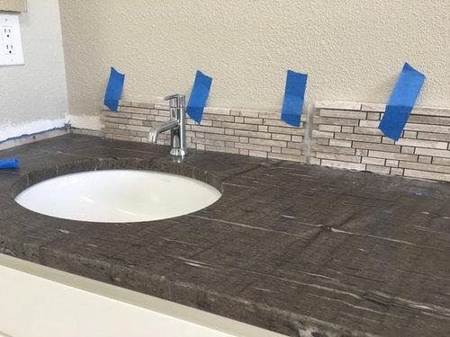 Bathroom Vanity Backsplash Height, How Tall Should A Bathroom Vanity Backsplash Be