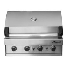 Barbeques Galore - Turbo 4-Burner Built-In Gas Grill, Natural Gas - Outdoor Grills