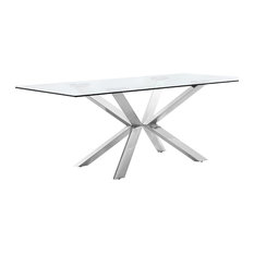 Meridian Furniture - Juno Dining Table, Chrome - Dining Tables