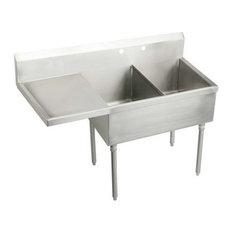 "Elkay SS8230L2 Sturdibilt Stainless Steel Utility Sink Fixture, 61.5"""