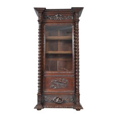 Consigned Antique Oak Bookcase Louis XIII Style France 19th Century