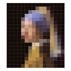 Girl With a Pearl Earring Pixel Wall Art, 160x180 Cm