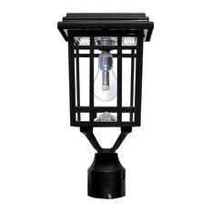 "Prairie Solar Light with GS Light Bulb - Wall/Pier/3"" Fitter Mounts - Black"
