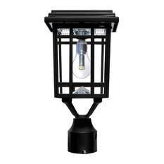 Bestselling craftsman outdoor lights for 2018 houzz bay multi mount solar lantern with gs light bulb black post lights workwithnaturefo