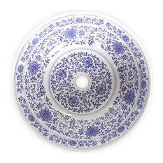 Eden Bath   Vessel Sinks   Eden Bath PS01 Ming Dynasty Decorative Porcelain  Sink   Bathroom