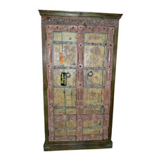 Mogul Interior - Consigned Distressed Reclaimed Antique Hand-Carved Furniture - Armoires And Wardrobes