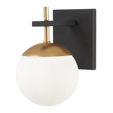 Alluria Wall Mount, Weathered Black With Autumn Gold
