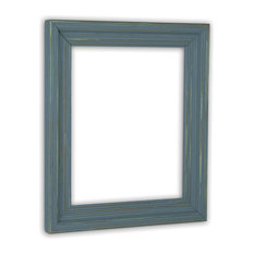 "Cimarron Slate Blue Picture Frame, Solid Wood, 20""x24"""