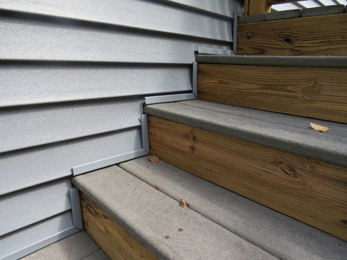 J Channels Installed Correctly Around Stairs And Small Bay