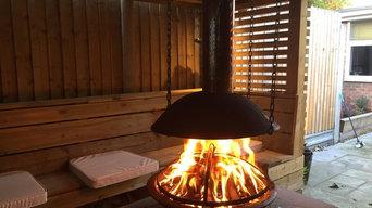 Outdoor firepit room