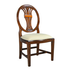 Oval Back Inlaid Side Chair