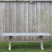 Zinc Top Trestle Table