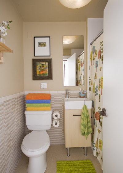 12 Decorating Tricks to Make Small Bathrooms Work Harder on decorate a bathroom, tank a bathroom, paint a bathroom,