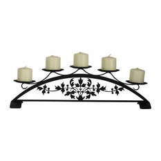 Village Wrought Iron Victorian, Table Top Pillar Candle Holder