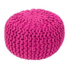 Fargo Sphere Pouf, Bright Purple