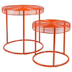 Nice Side Tables And End Tables Eontic Nesting Tables Red Orange Set of
