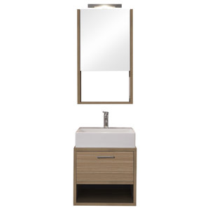 Giava 4-Piece Bathroom Vanity Set, Light Wood, 52 cm