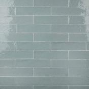 "SomerTile Chester Ceramic Wall Tile, 3""x12"", Aqua"