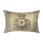 Bee Striped Linen Pillow