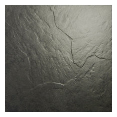 Slate Effect Black Floor Tiles, 1 m2