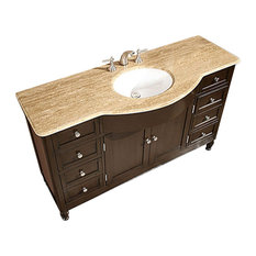 "58"" Single Sink Bathroom Vanity With Top Choice"