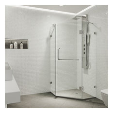 "VIGO 40""x40"" Frameless Neo-Angle 3/8"" Shower, Without Base"