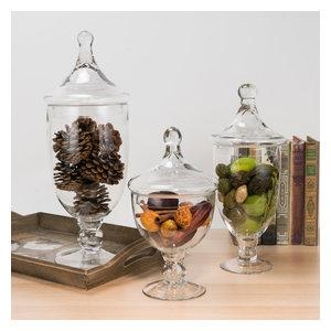 Glass Apothecary Jar Candy Buffet Set 9.5