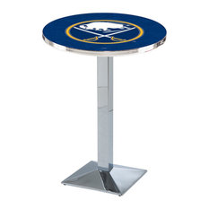L217 - 36-inch Chrome Buffalo Sabres Pub Table by Holland Bar Stool Co. by Holland Bar Stool Company