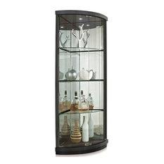 New Spec Inc. - Curio Corner Cabinet - China Cabinets And Hutches