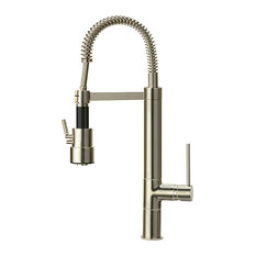 Single-Handle Kitchen Faucet, Brushed Nickel