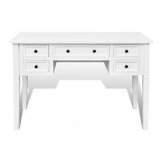 VidaXL Writing Desk With 5 Drawers, White