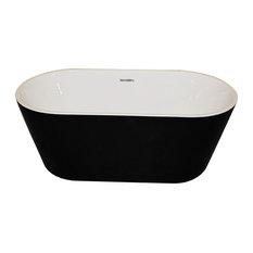 ANZZI Dualita 5.4 ft. Acrylic Center Drain Freestanding Bathtub