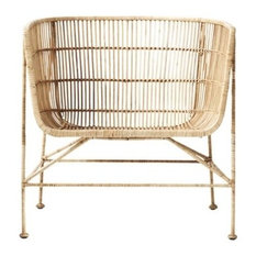 Coon Rattan Arm Chair, Nature