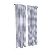 "Buffalo Check Window Curtain Panel, 42""x63"", Gray"
