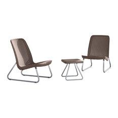 Keter 3-Piece Patio Furniture Set, Rio Cappuccino