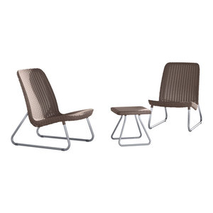 Keter 3-Piece Patio Furniture Set, Rio Cappuccino