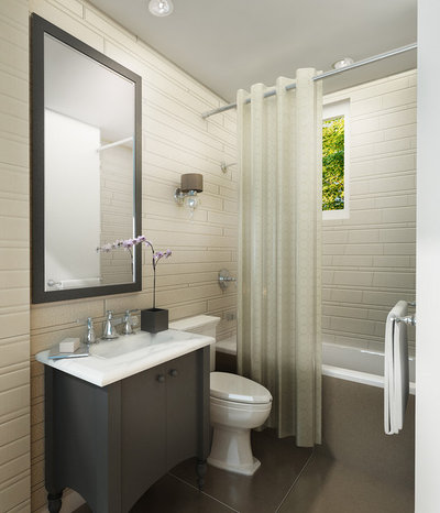 contemporary by laura bielecki - Cheap Bathroom Makeover