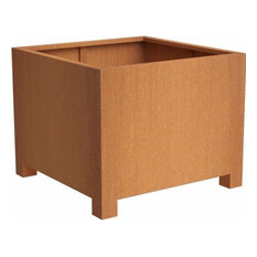 Adezz Corten Steel Planter, Andes Cube with Feet, 120x120x80cm