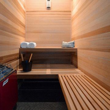 Modern Northwoods Residence Sauna