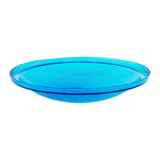 14'' Crackle Glass Bowl in Teal