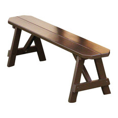 2' Traditional Picnic Bench in Pine, Canary Yellow