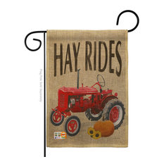 Hay Rides Fall Harvest & Autumn Garden Flag