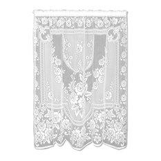 "Victorian Rose Panel, White, 84"""