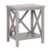 Candence End Table in Grey