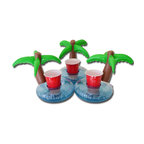 GoPong Floating Palm Island Drink Holders, Set of 3