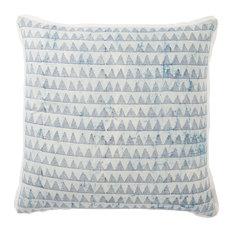 "Jaipur Living Yonah Handmade Geometric Blue Throw Pillow 22"", Poly Fill"